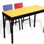 Muebles y sillas para escuela